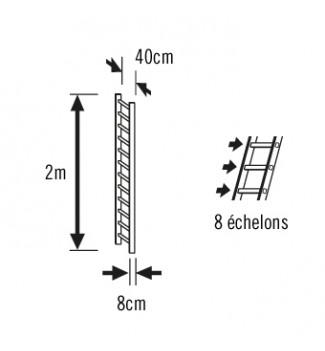 Schéma extension échelle plate de toit en bois pour couvreur 2m Hailo Safety Roof
