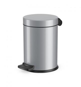 Poubelle de salle de bain design à pédale 4L Hailo Solid S