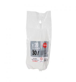 10 rouleaux de 20 sacs poubelles 30L Hailo