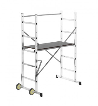 Echafaudage roulant pour escalier 3m en aluminium Hailo HobbyStep H3
