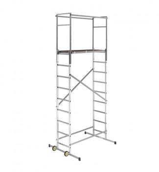 Echafaudage roulant d'escalier intérieur et extérieur 5m en aluminium Hailo HobbyStep H5