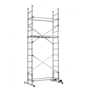 Echafaudage roulant pour escalier avec montage rapide 5m en aluminium Hailo Fast & Lock 5