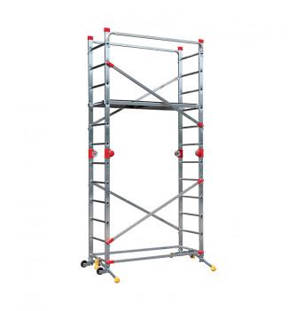 Echafaudage roulant pliable 4 en 1 multifonction 5m en aluminium Hailo CombiLot 5