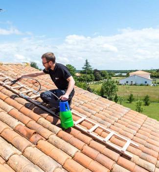 Echelle plate de toit en bois pour couvreur 5m Hailo Safety Roof