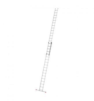 Echelle coulissante à main 2 plans 2x18 échelons 9m50 en aluminium Hailo ProfiStep Duo