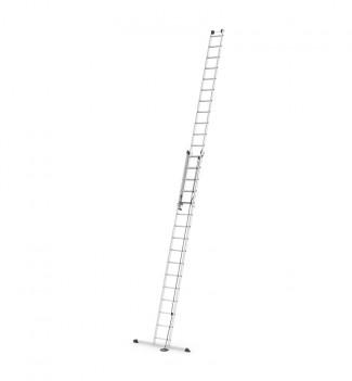 Echelle coulissante à corde 2 plans 2x16 échelons 8m70 en aluminium Hailo ProfiStep Duo