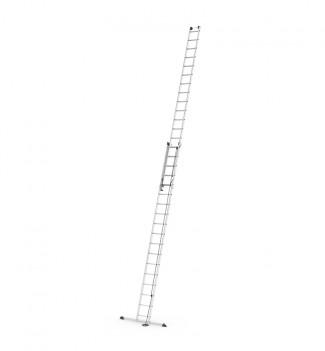 Echelle coulissante à corde 2 plans 2x18 échelons 9m50 en aluminium Hailo ProfiStep Duo