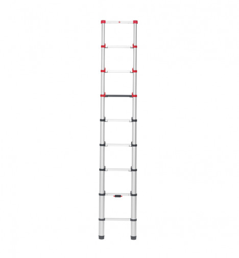 Echelle télescopique pliable 9 échelons 2m60 aluminium Hailo Flexline