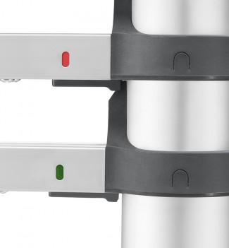 Indicateurs echelle télescopique pliable 13 échelons 3m80 en aluminium Hailo Flexline