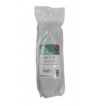 Pack de 10 rouleaux de 15 sacs poubelles universels 20 à 30L