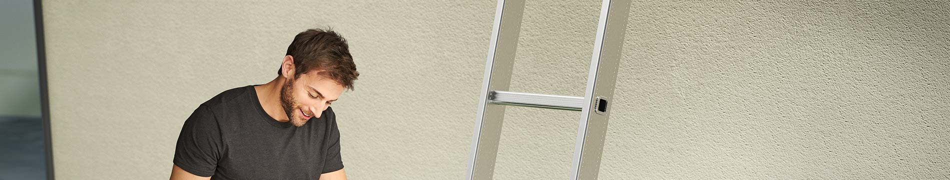 Echelle simple en aluminium Hailo Profistep Uno